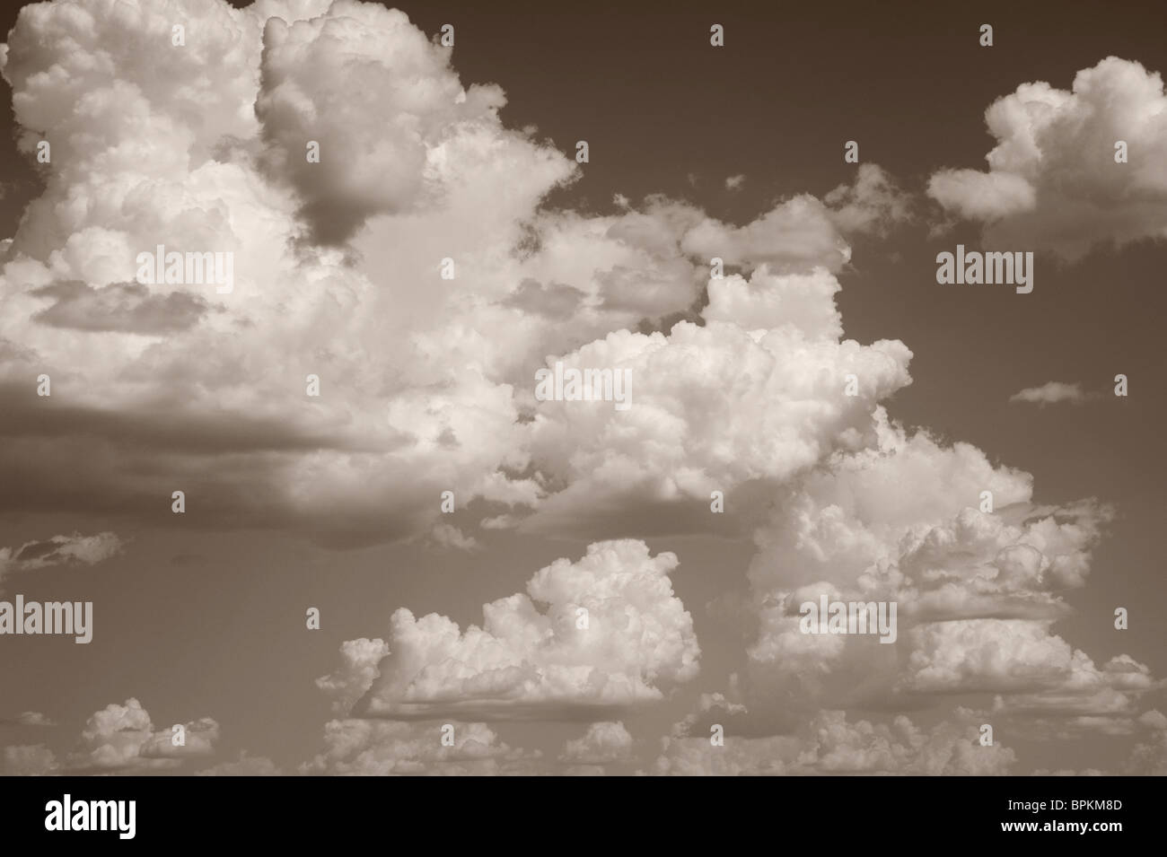 Clouds and Sky in Black and White - Stock Image