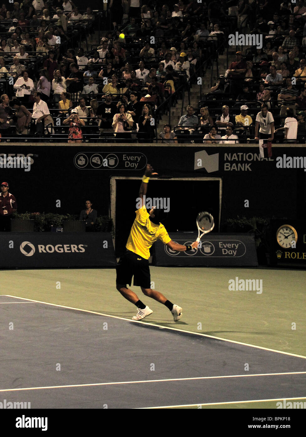 NOVAK DJOKOVIC World Number 1 One  (SERBIA) COMPETING IN ROGERS CUP, TENNIS MASTERS EVENT,  US OPEN SERIES AUGUST - Stock Image