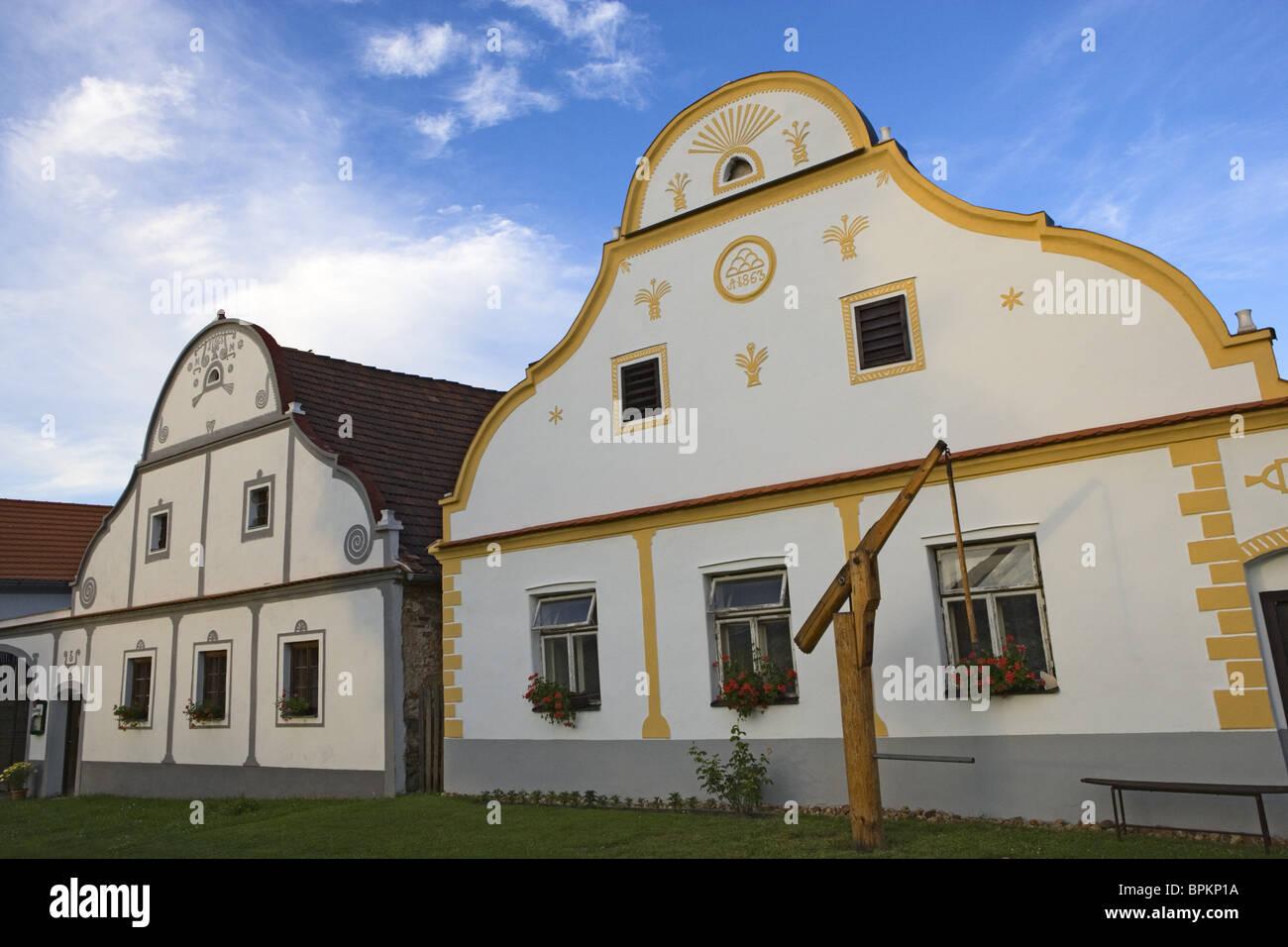 Holasovice belongs to the UNESCO's  world cultural heritage, South Bohemia, Sumava, Czech republic - Stock Image