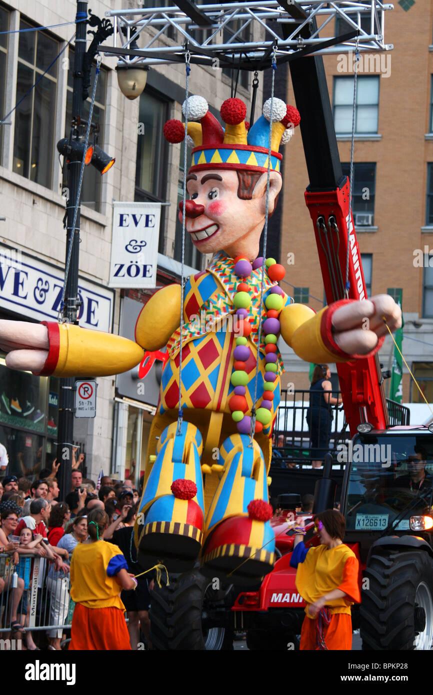 Mardi Gras parade, Montreal International Jazz festival - Stock Image