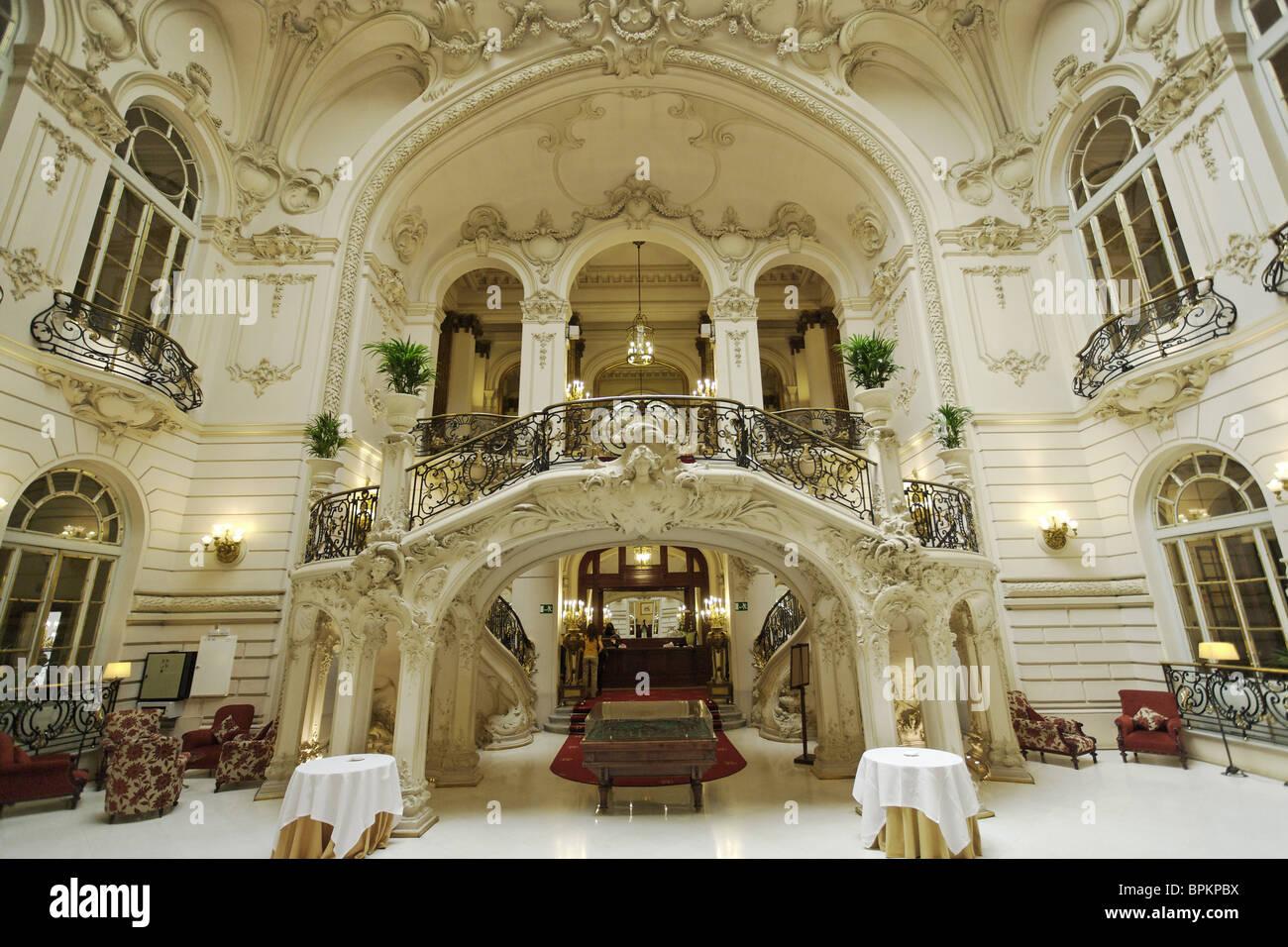 Inside the Casino, Madrid, Spain - Stock Image