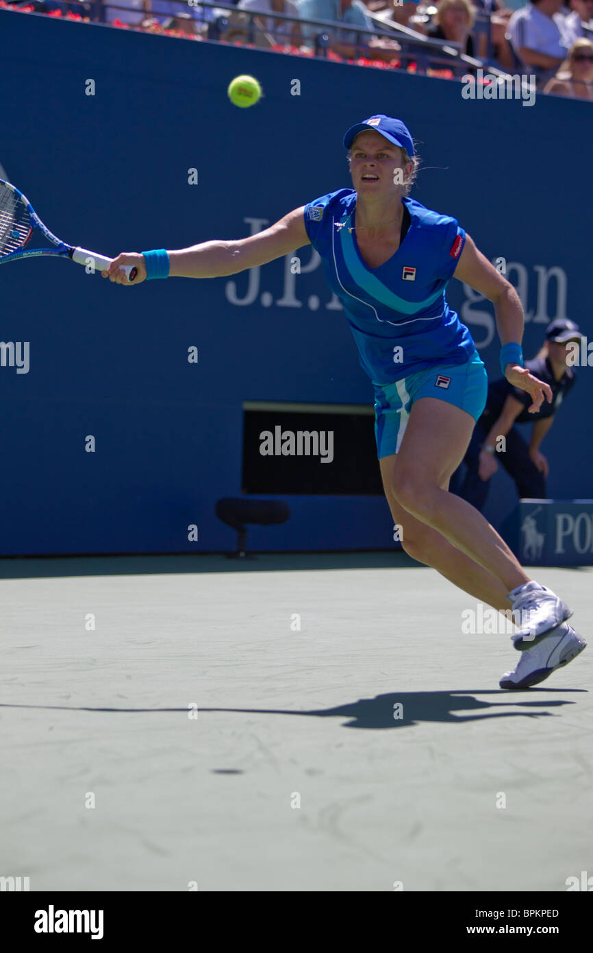 Kim Clijsters (BEL) competing at the 2010 US Open Tennis - Stock Image