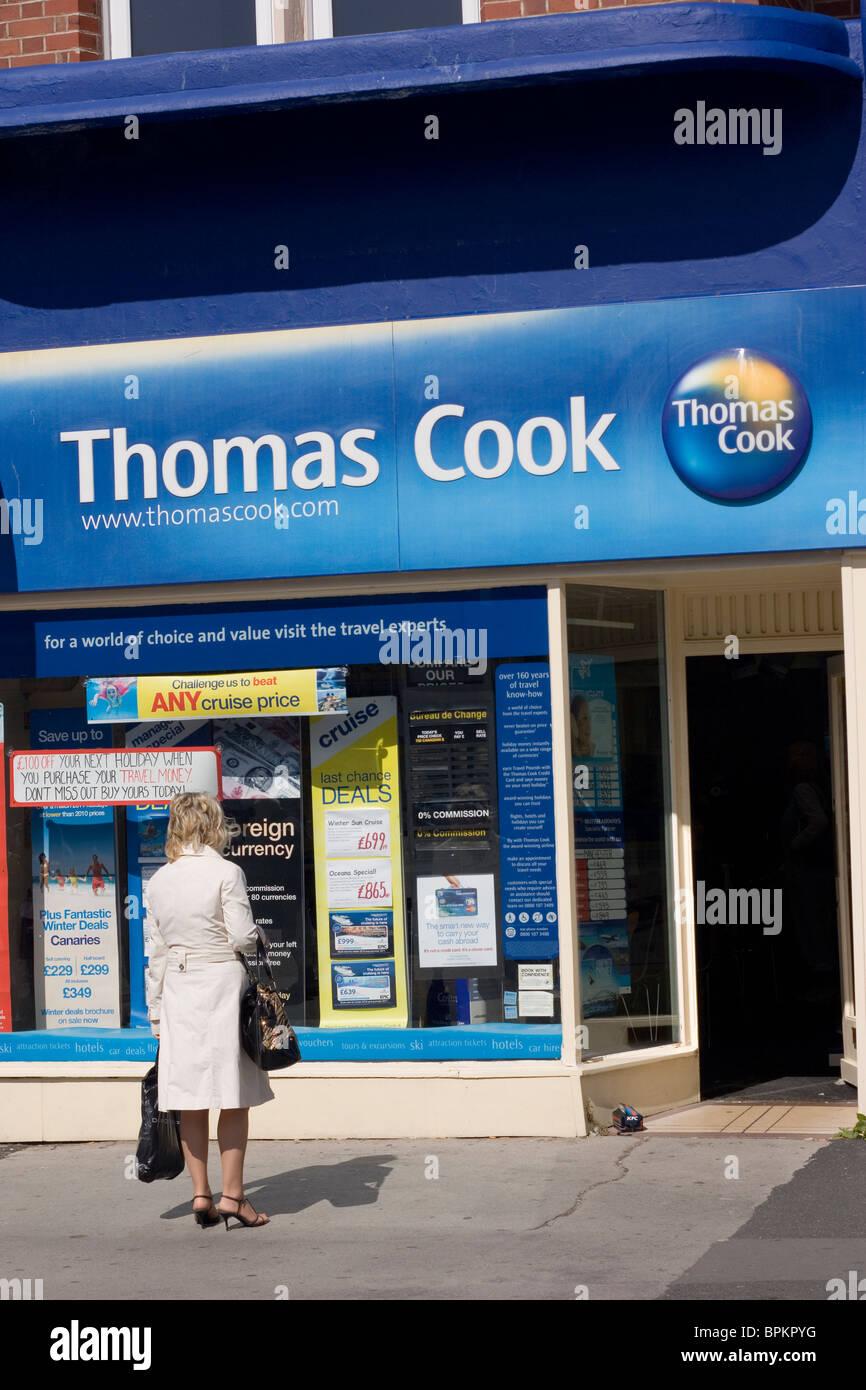 Thomas Cook Travel Agency Thornton Cleveleys Lancashire - Stock Image