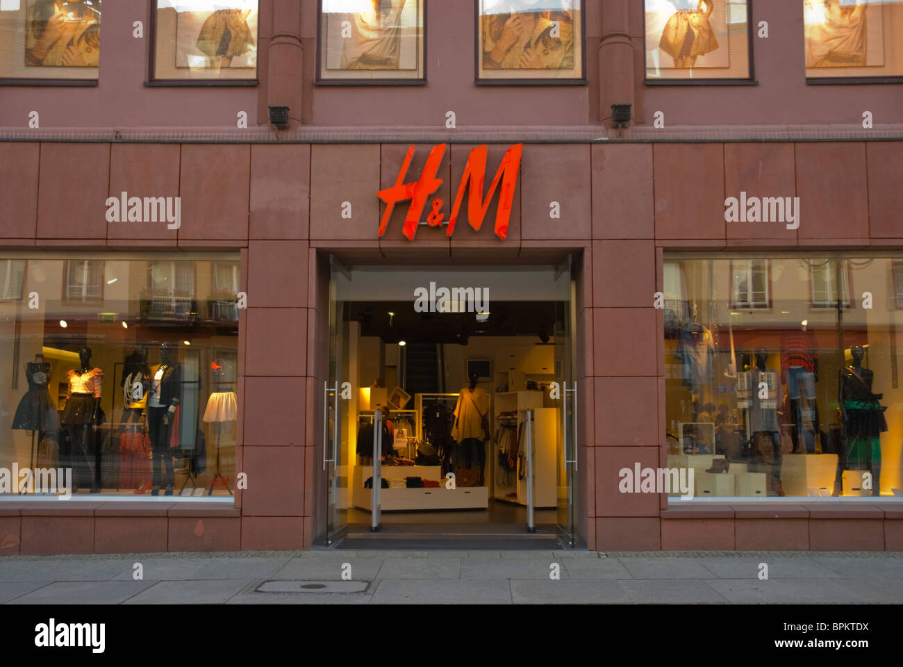 H&M clothing shop on Swidnicka street central Wroclaw Silesia Poland Europe Stock Photo