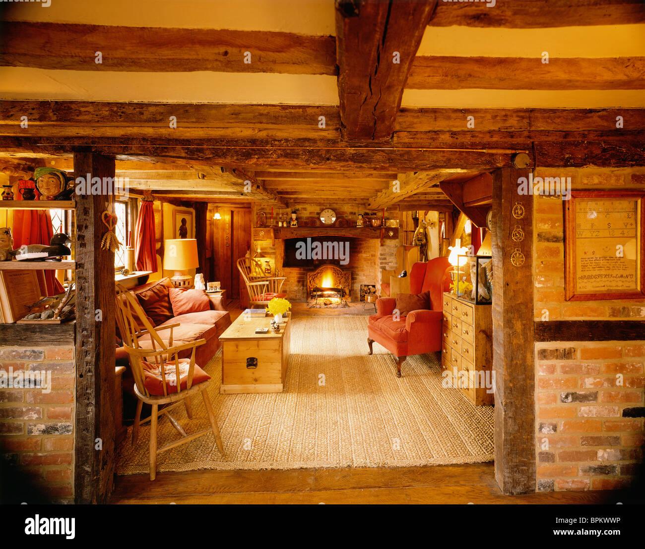 English Cottage Interior Stock Photos & English Cottage