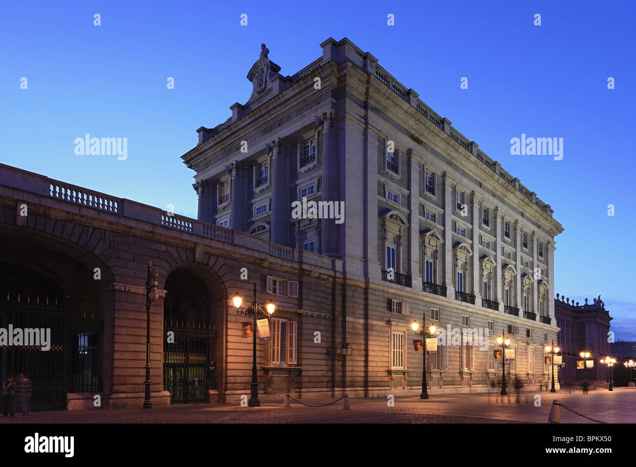 Palacio Real de Madrid, the biggest palace in Europe, Madrid, Spain - Stock Image