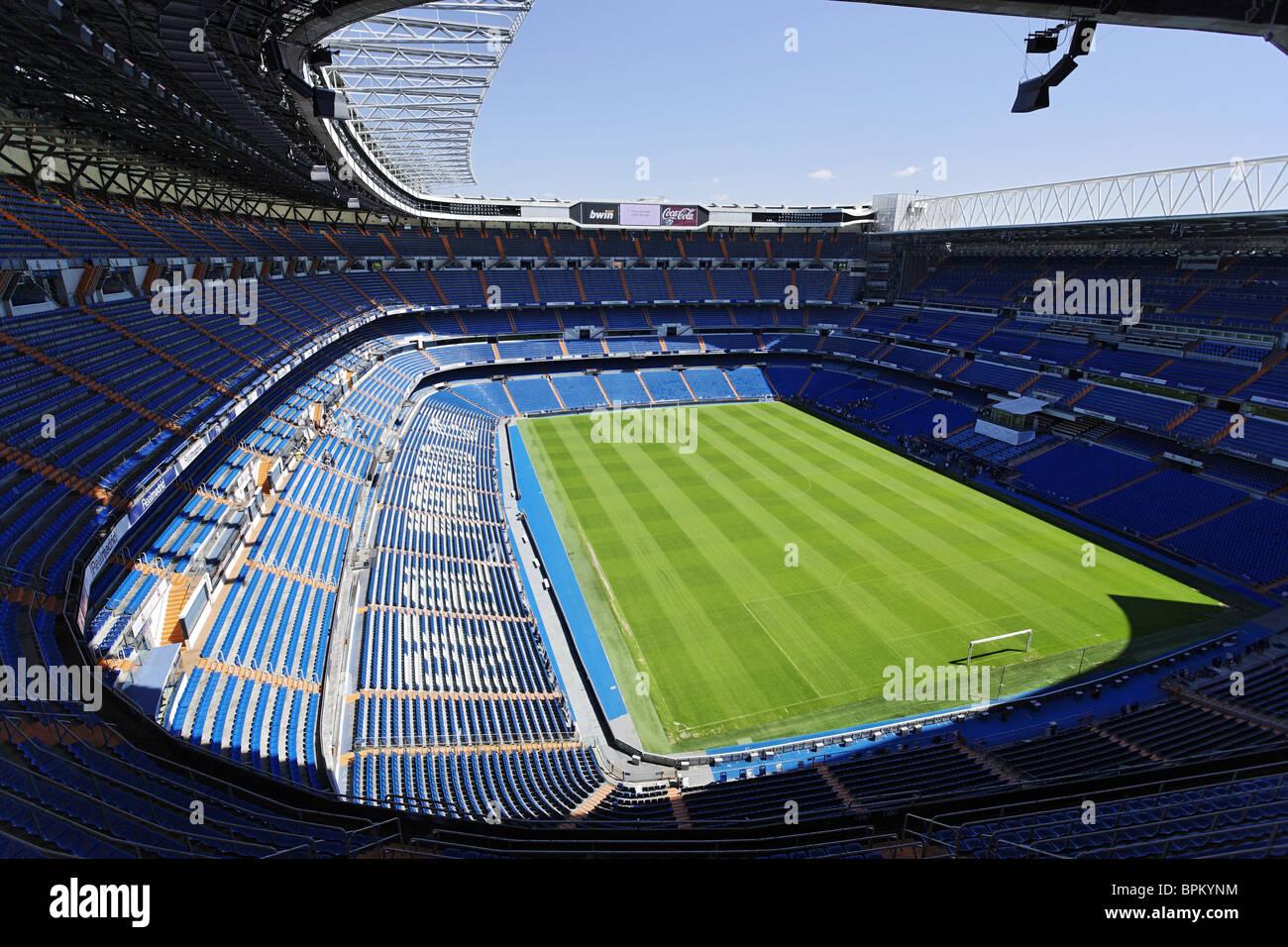 Santiago Bernabeu Stadium (UEFA Elite Stadium), Madrid, Spain - Stock Image