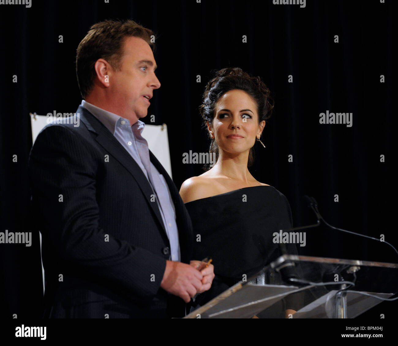 Patrick McKenna  and Anna Silk announce the nominations for the 25th Gemini Awards. - Stock Image