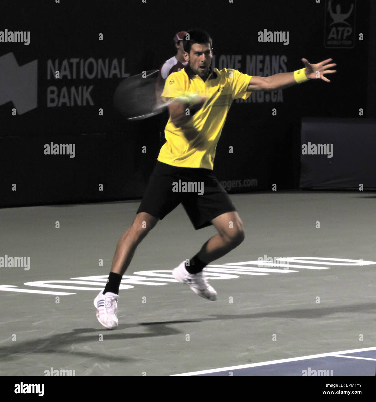 NOVAK DJOKOVIC World # One (SERBIA) COMPETING AGAINST CHARDY (QF) ROGERS CUP, TENNIS MASTERS EVENT,  US OPEN SERIES - Stock Image