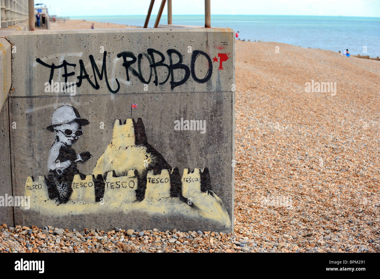 Latest work by Banksy which has appeared on St Leonard's