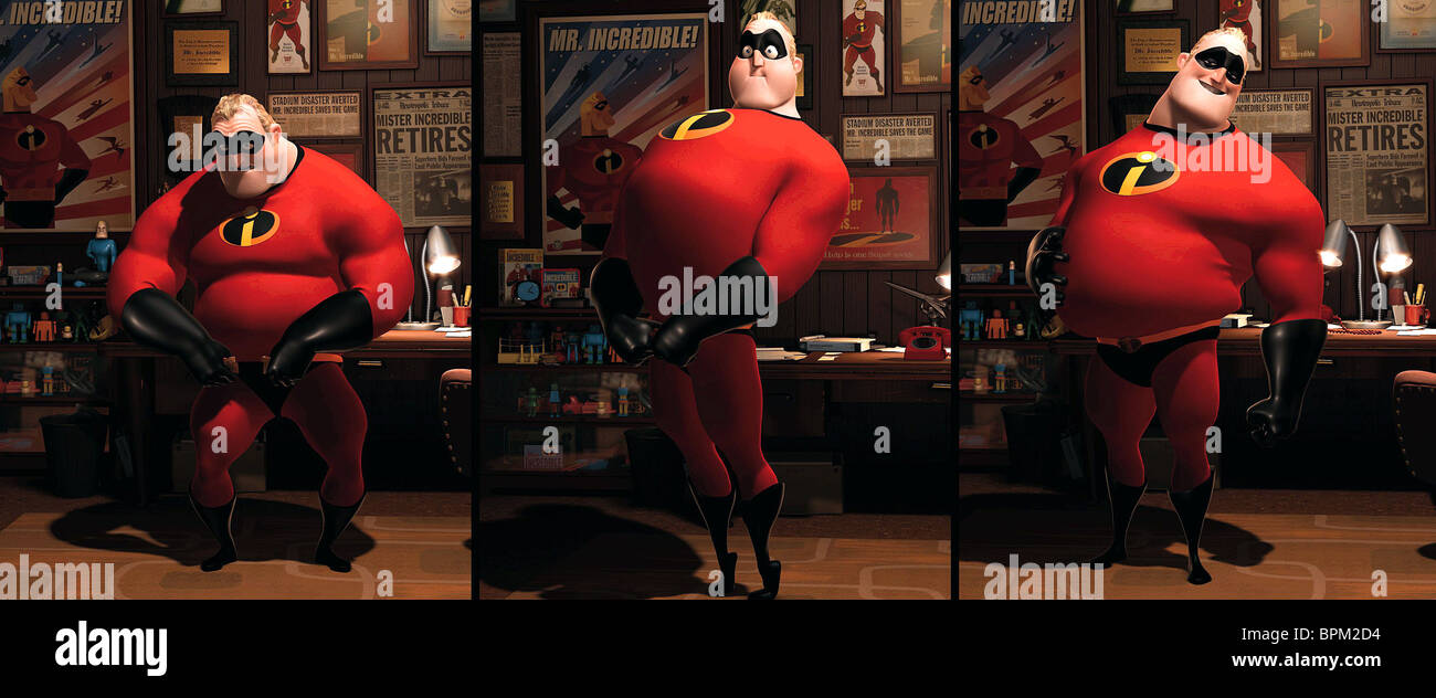 BOB PARR THE INCREDIBLES (2004) - Stock Image