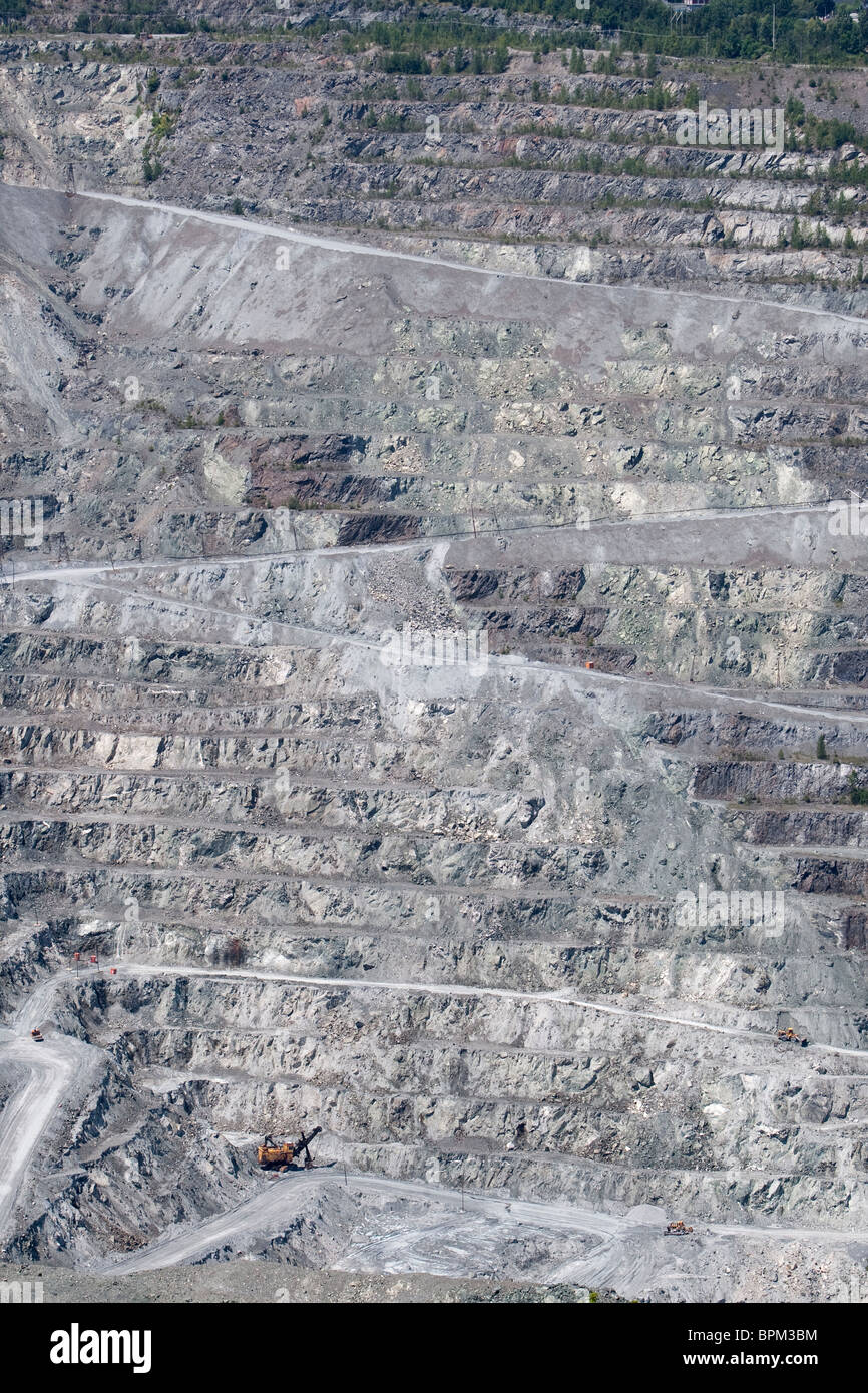 Jeffrey Asbestos Mine open pit is pictured in the town of Asbestos, Quebec, Canada - Stock Image