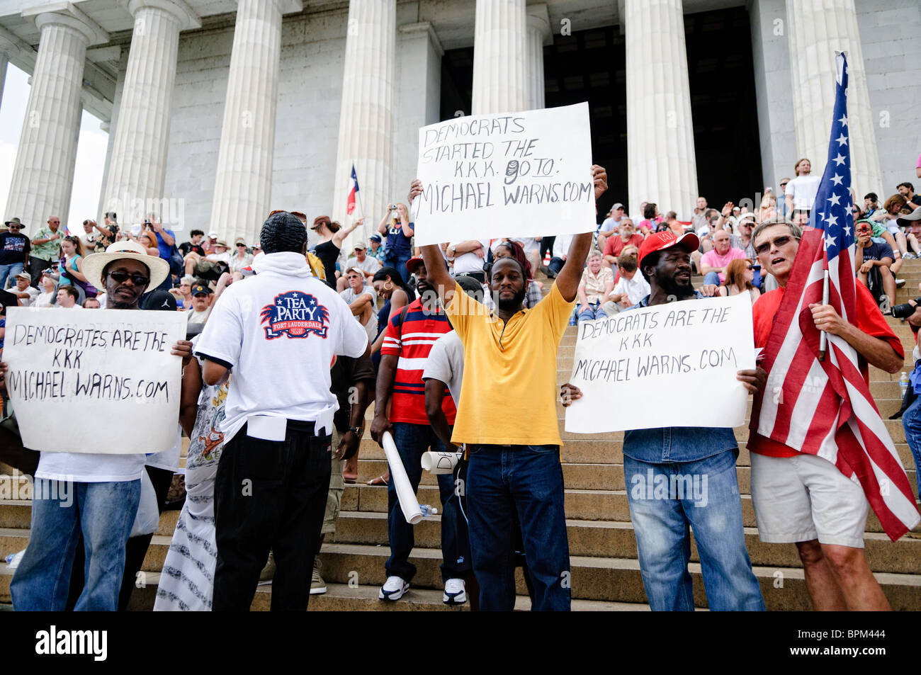 """WASHINGTON DC, USA - Conservative television commentator Glenn Beck's """"Restore Honor"""" conservative rally at the Stock Photo"""