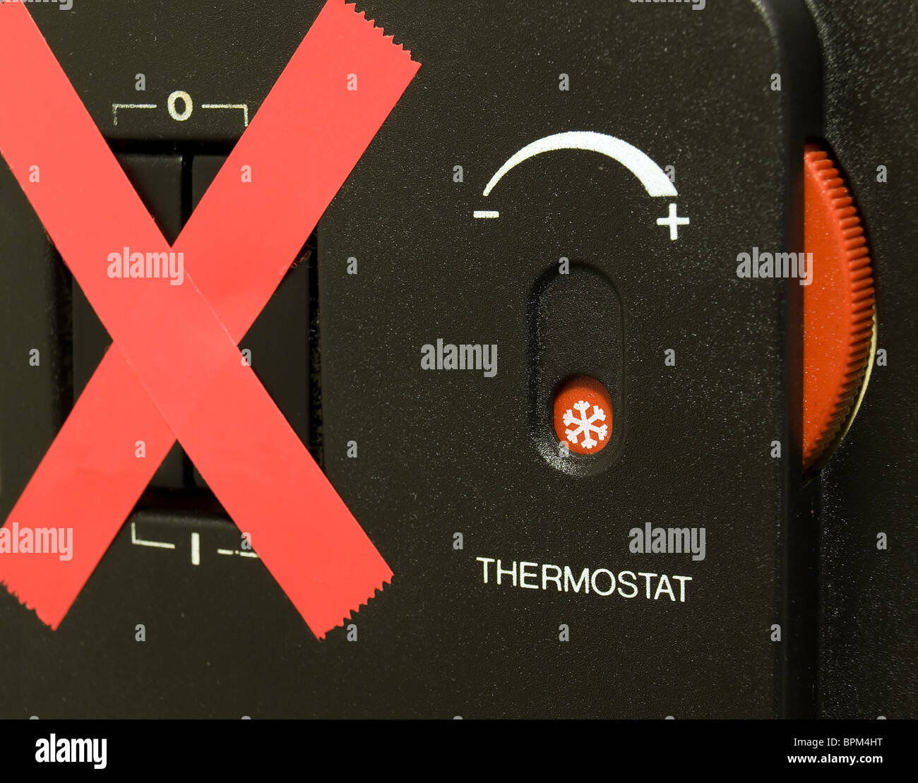 Metaphor of the crisis of energy in the heating season - Stock Image