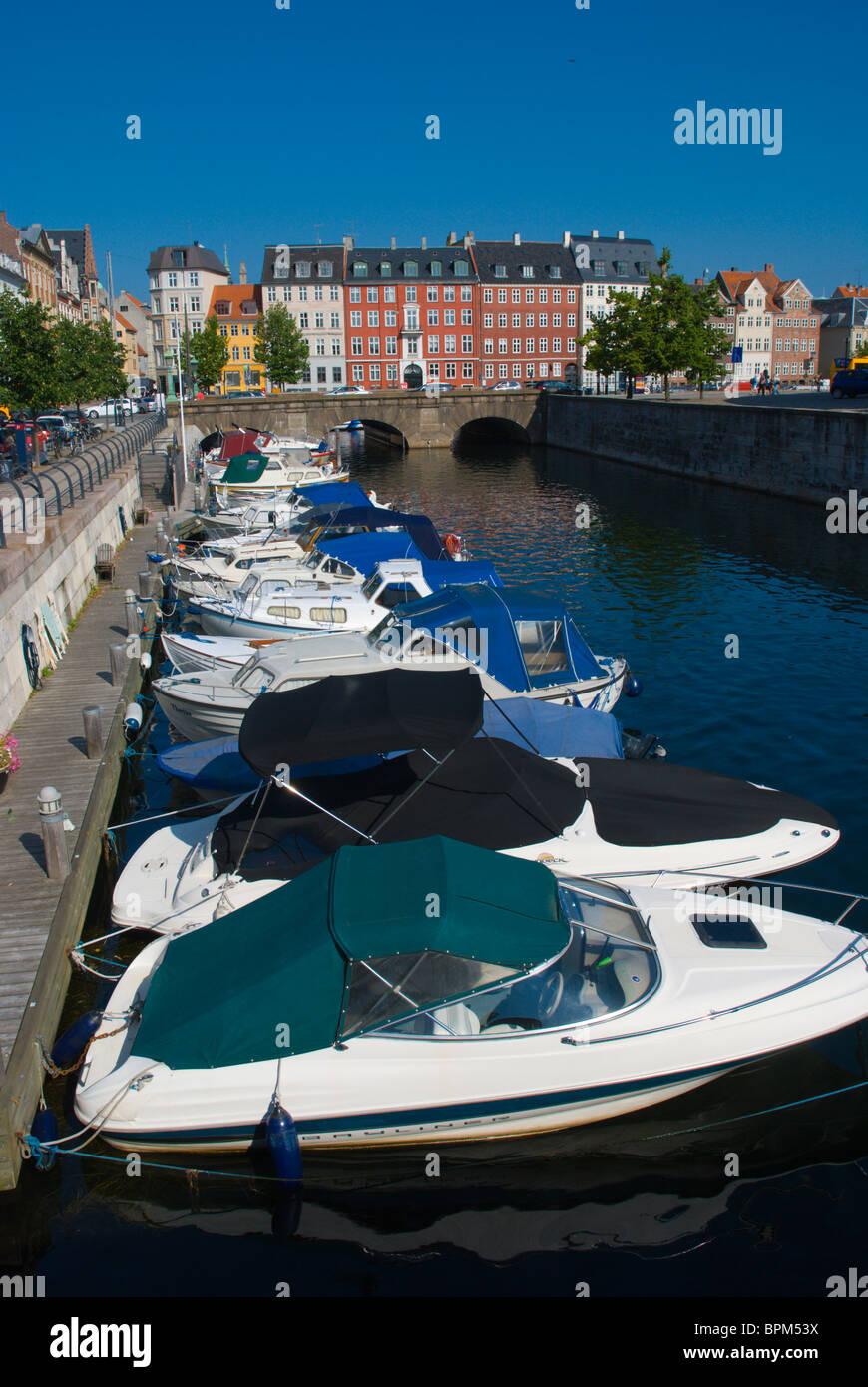 Frederiksholms canal at Slotsholmen island central Copenhagen Denmark Europe - Stock Image