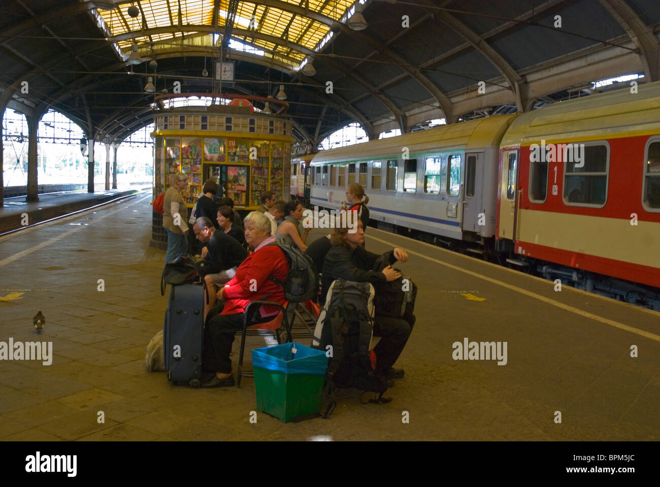 Glowny the main railway station Wroclaw Silesia Poland Europe Stock Photo
