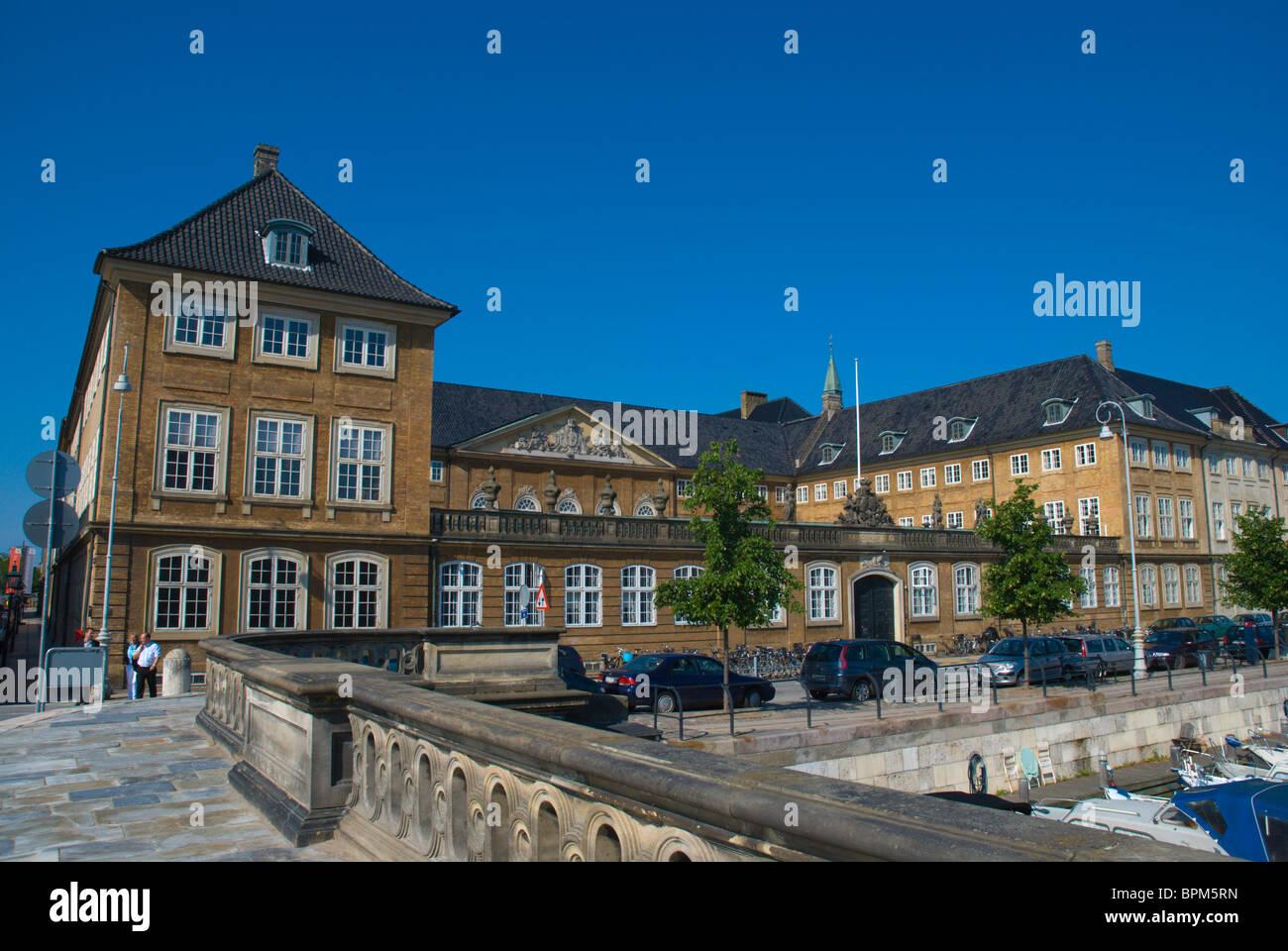 Back of Nationalmuseet the National Museum along Frederiksholms canal at Slotsholmen island central Copenhagen Denmark - Stock Image
