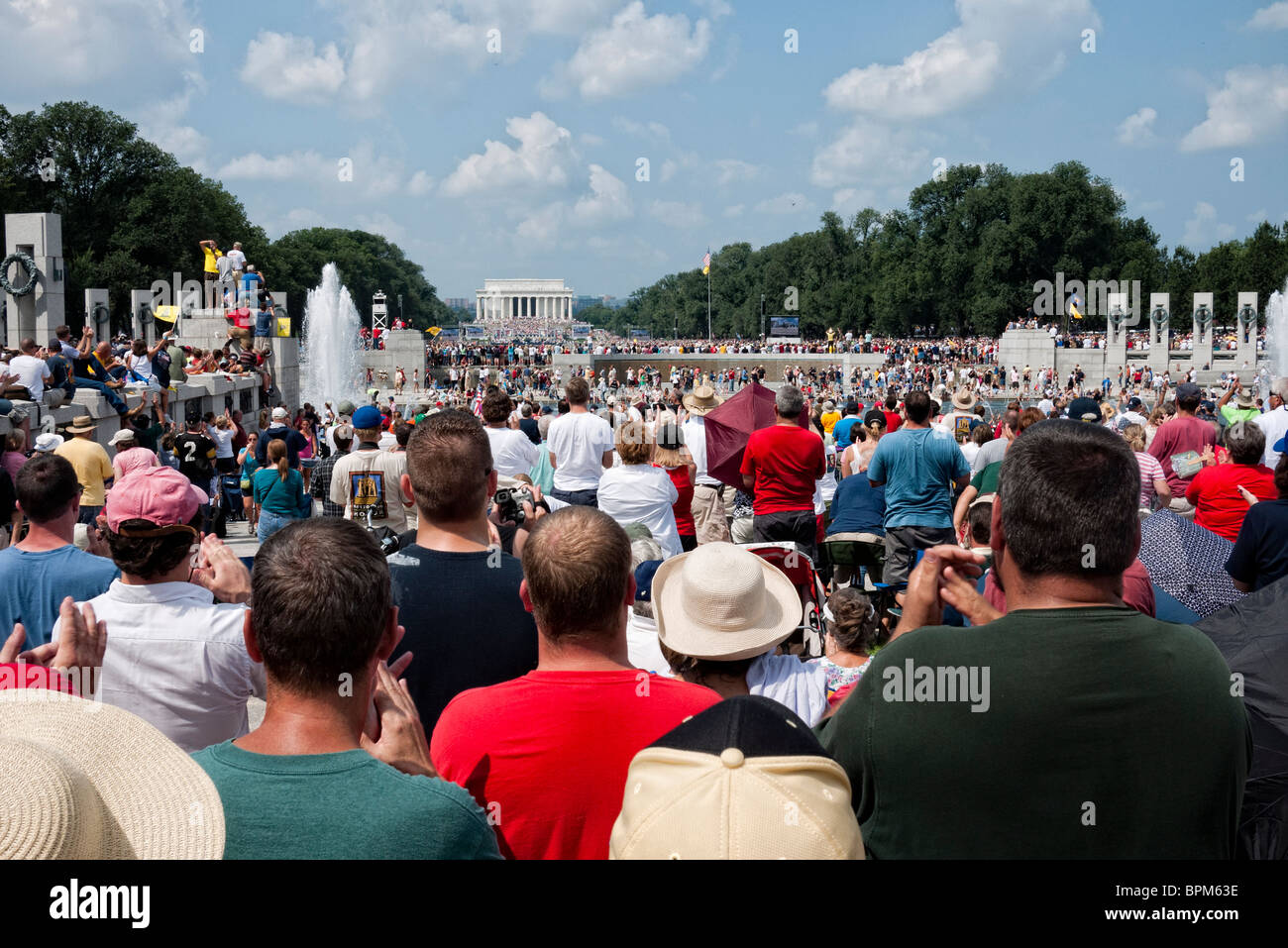 "WASHINGTON DC, USA - Conservative television commentator Glenn Beck's ""Restore Honor"" conservative rally at the Stock Photo"
