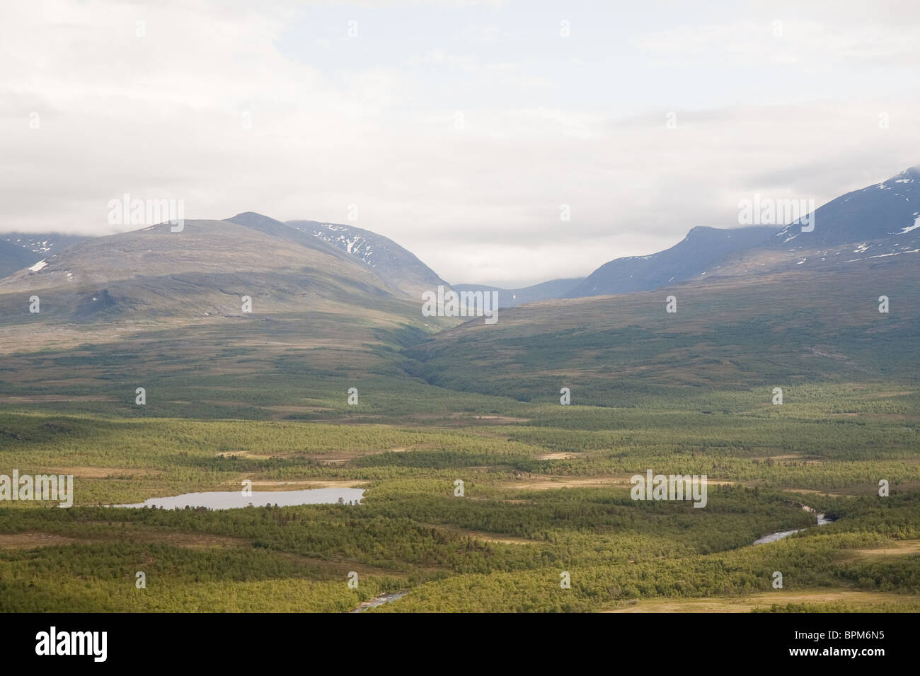 View of the Abisko National Park in northern Sweden - Stock Image