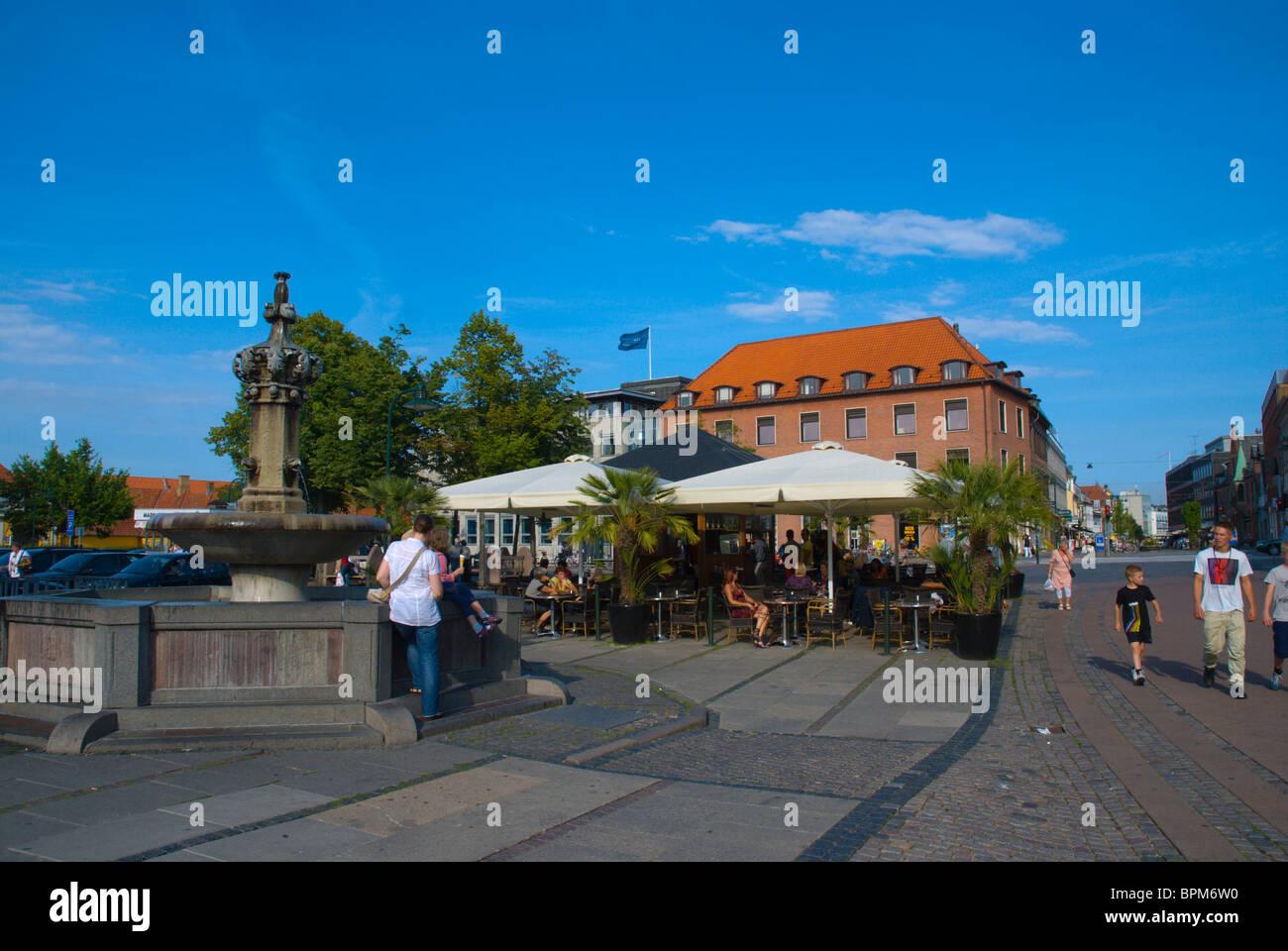 Staendertorvet square central Roskilde Denmark Europe - Stock Image
