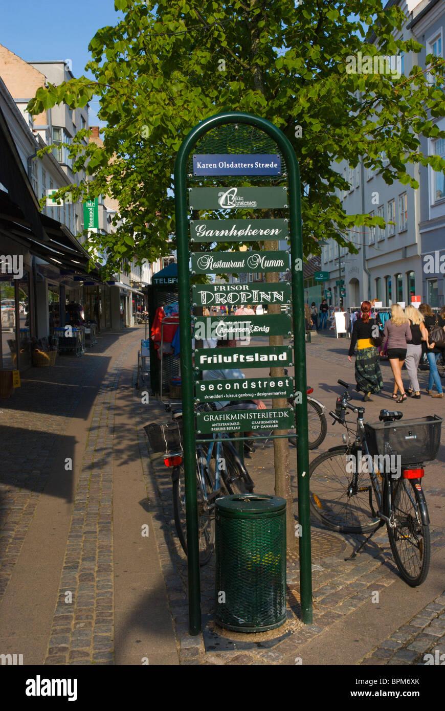 Skomagergade pedestrian street Roskilde Denmark Europe - Stock Image