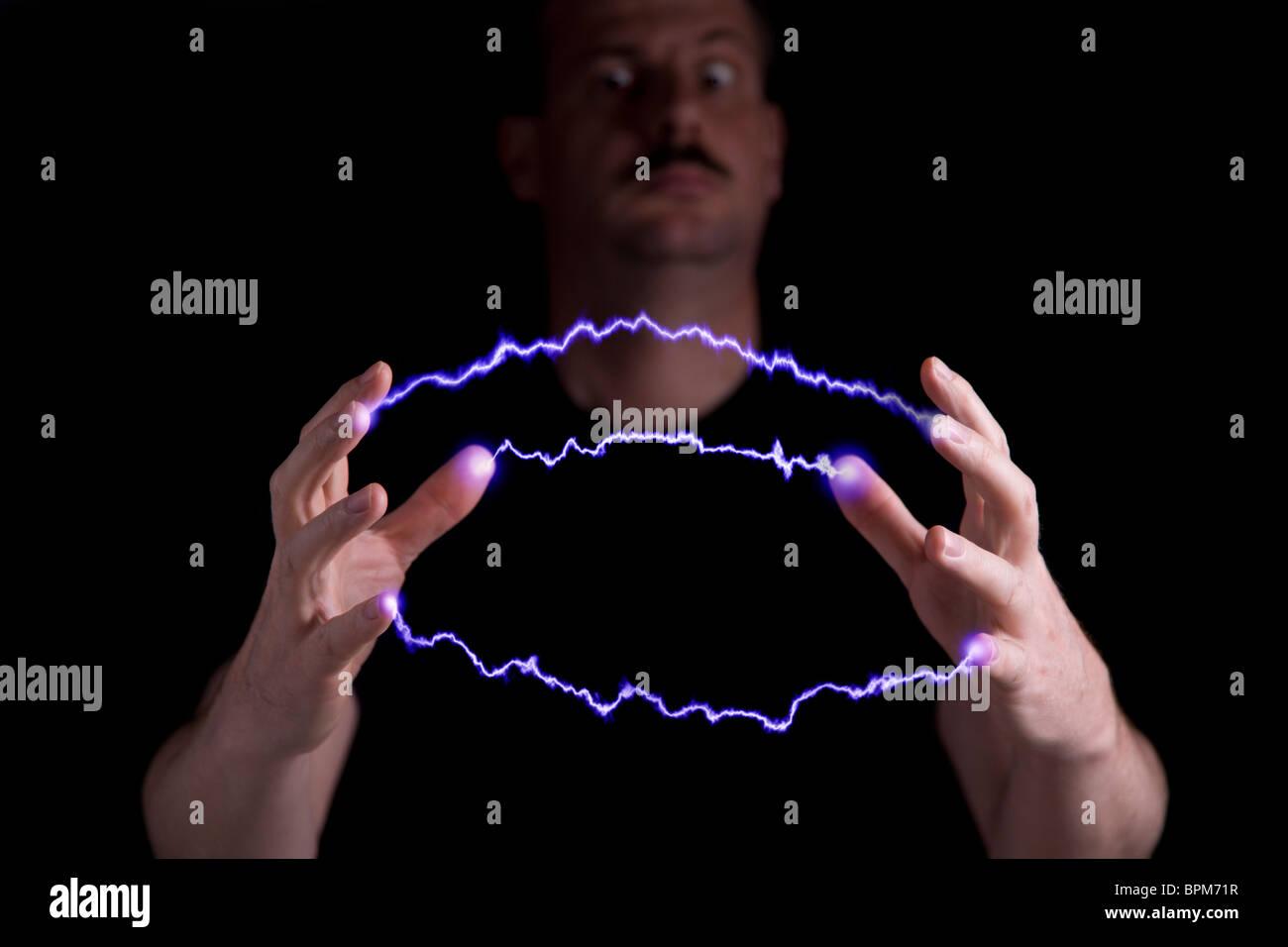 Mad scientist - Stock Image