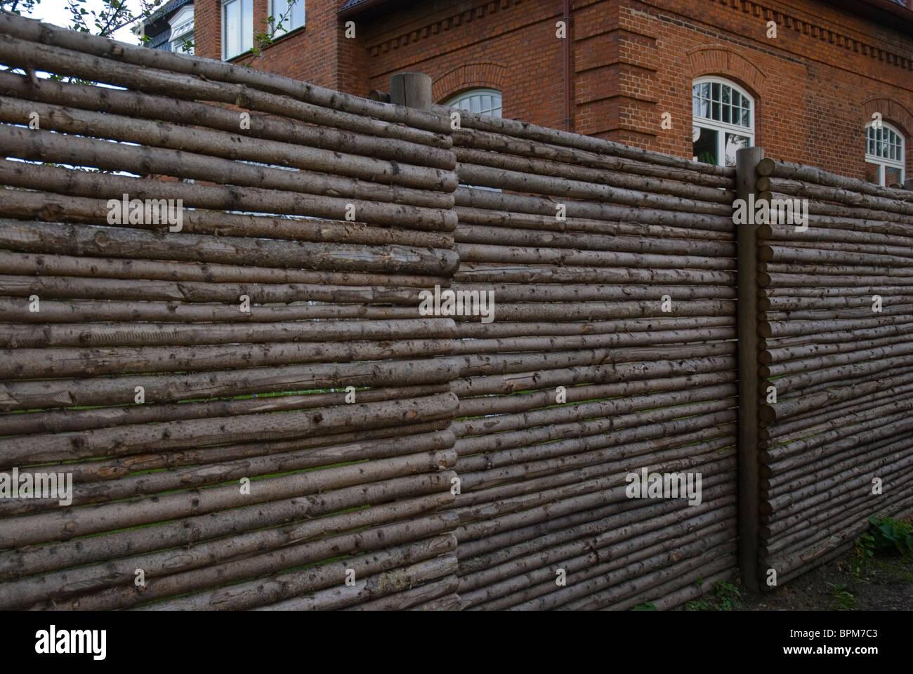 Wooden fence Roskilde Denmark Europe - Stock Image
