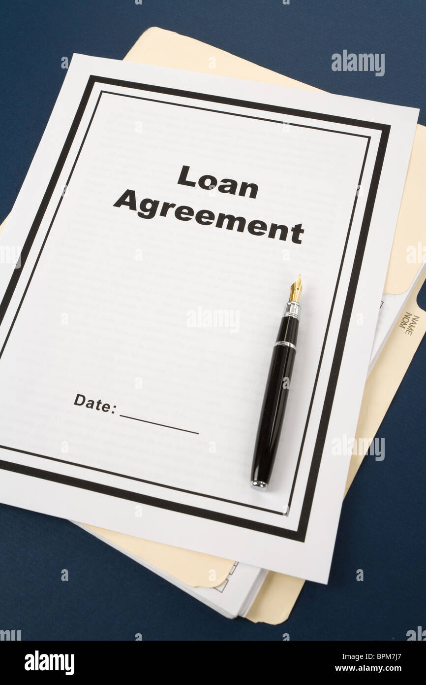 Loan Agreement Stock Photos & Loan Agreement Stock Images - Alamy