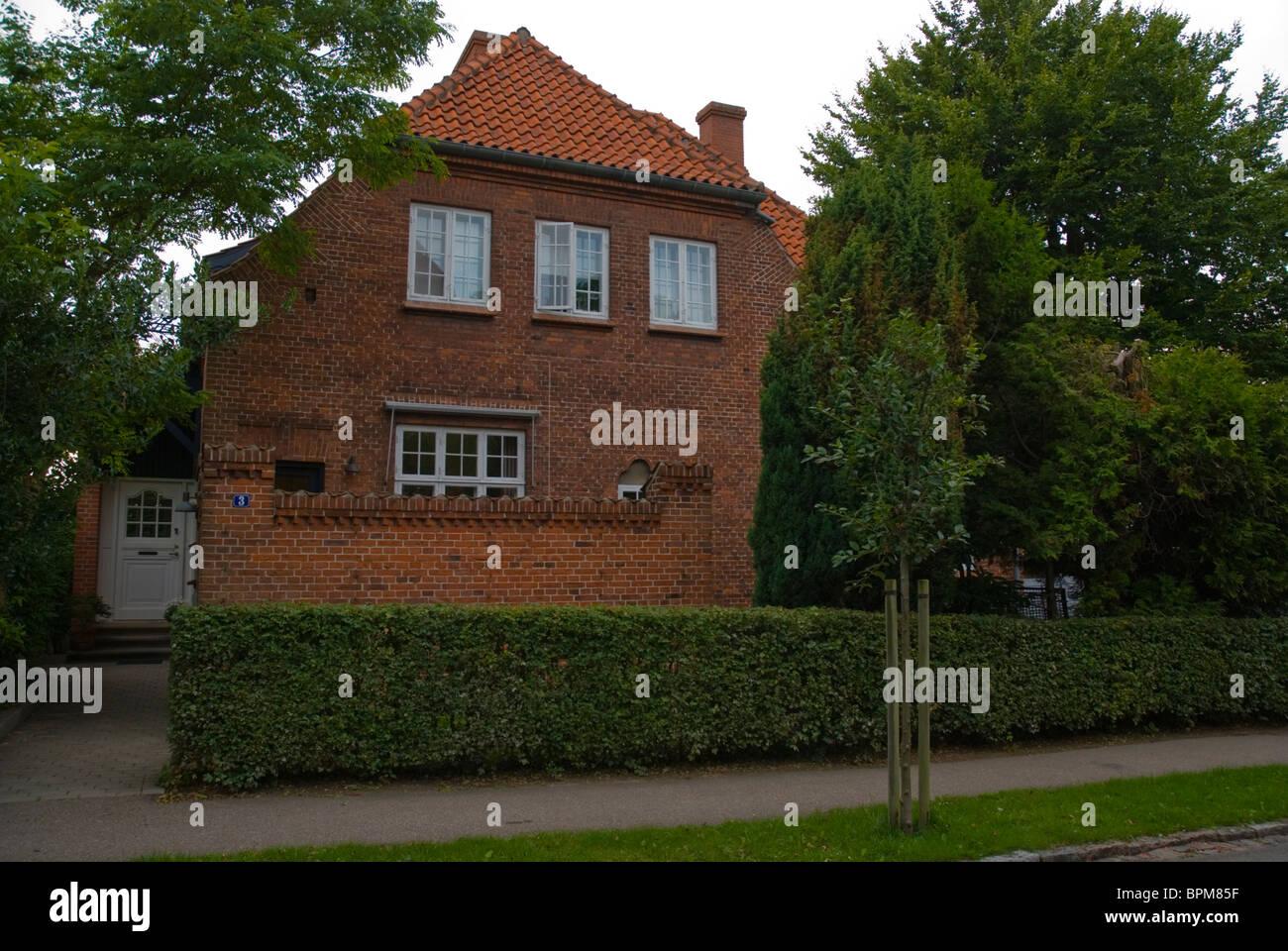 Residential red-brick building Roskilde Denmark Europe - Stock Image
