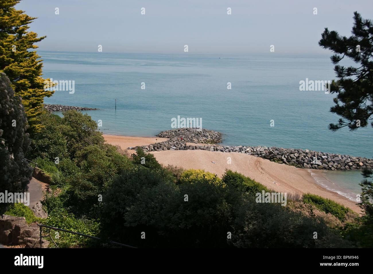 Folkestone beach - Stock Image