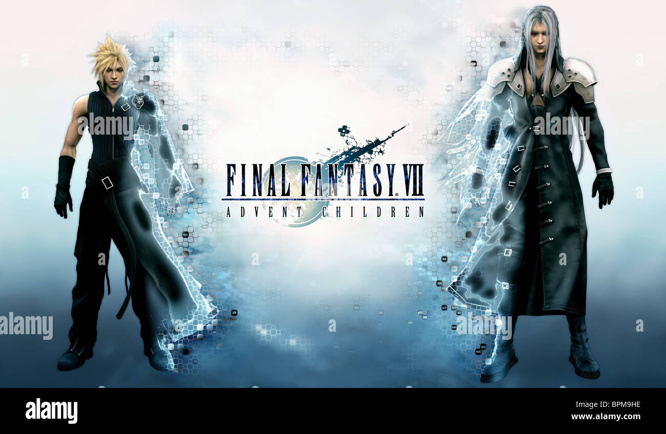 Cloud Strife Sephiroth Final Fantasy Vii Advent Children 2004