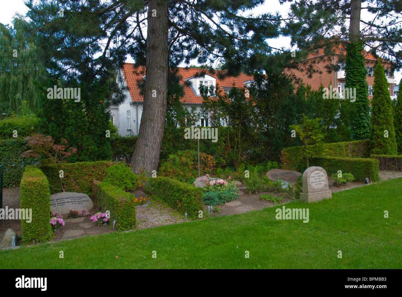 Sankt Peders cemetery Roskilde Denmark Europe - Stock Image