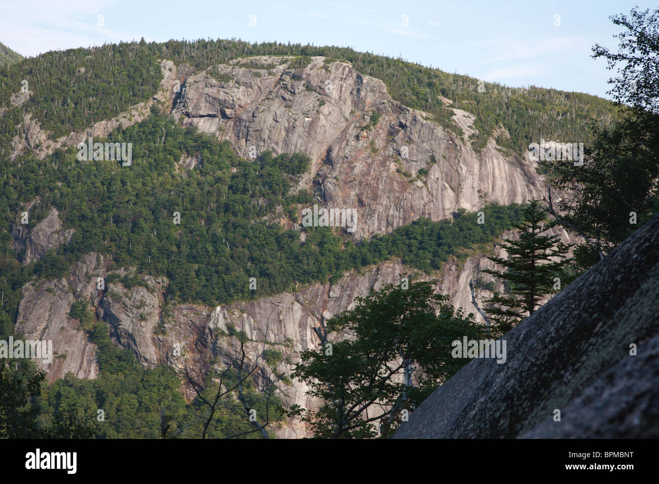 Crawford Notch State Park - Mount Willard in the White Mountains, New Hampshire USA. Stock Photo