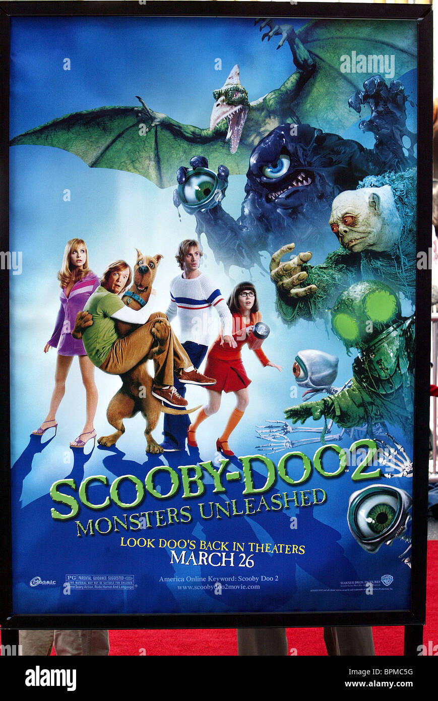 Scooby Doo 2 Monsters Unleashed Poster Scooby Doo 2 U S Poster Stock Photo Alamy