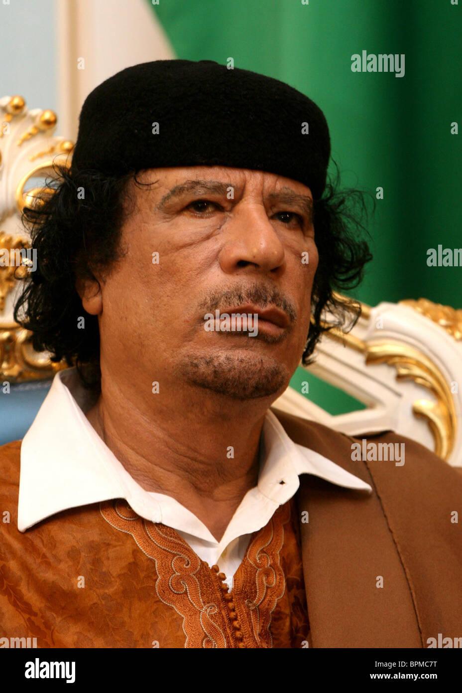 Libyan leader Muammar Gaddafi visits Belarus - Stock Image