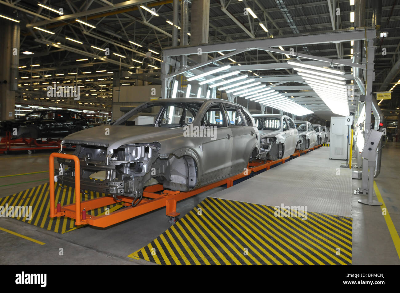 General Motors launches car assembly plant in St Petersburg - Stock Image