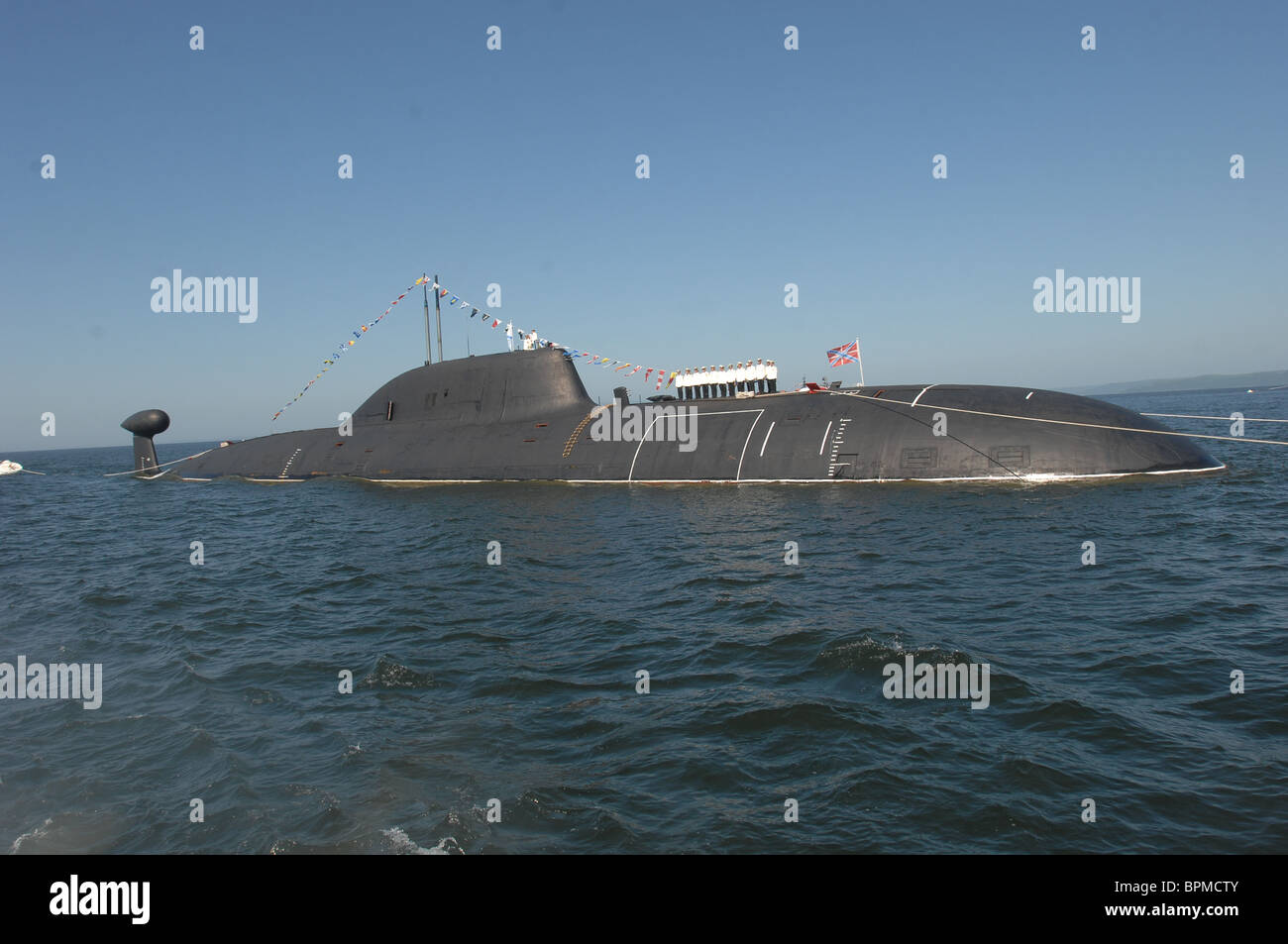 At least 20 killed in Russian submarine accident - Stock Image