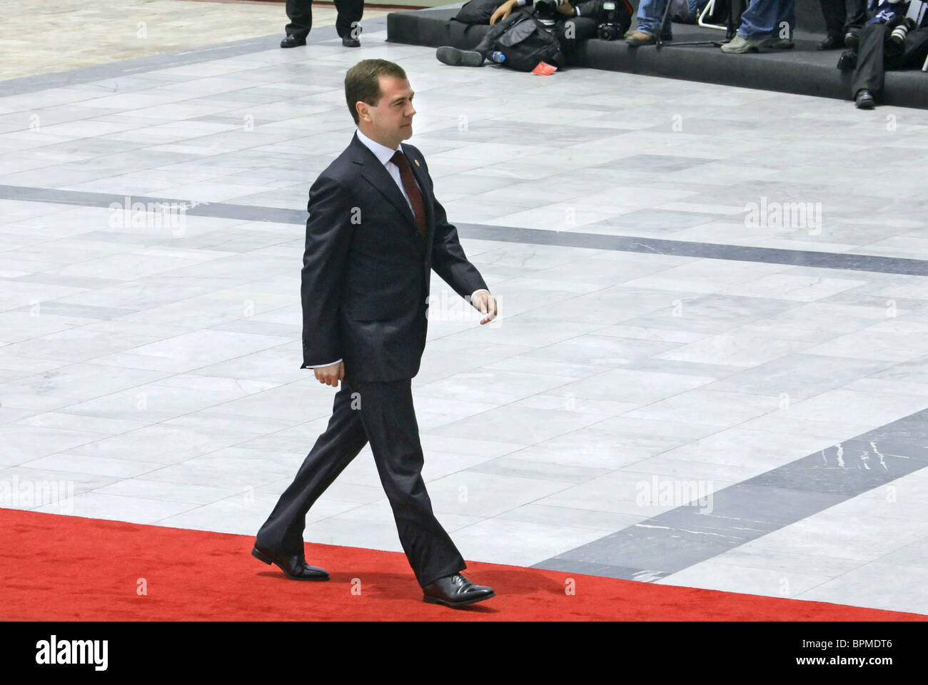Medvedev arrives in Peru for APEC summit - Stock Image