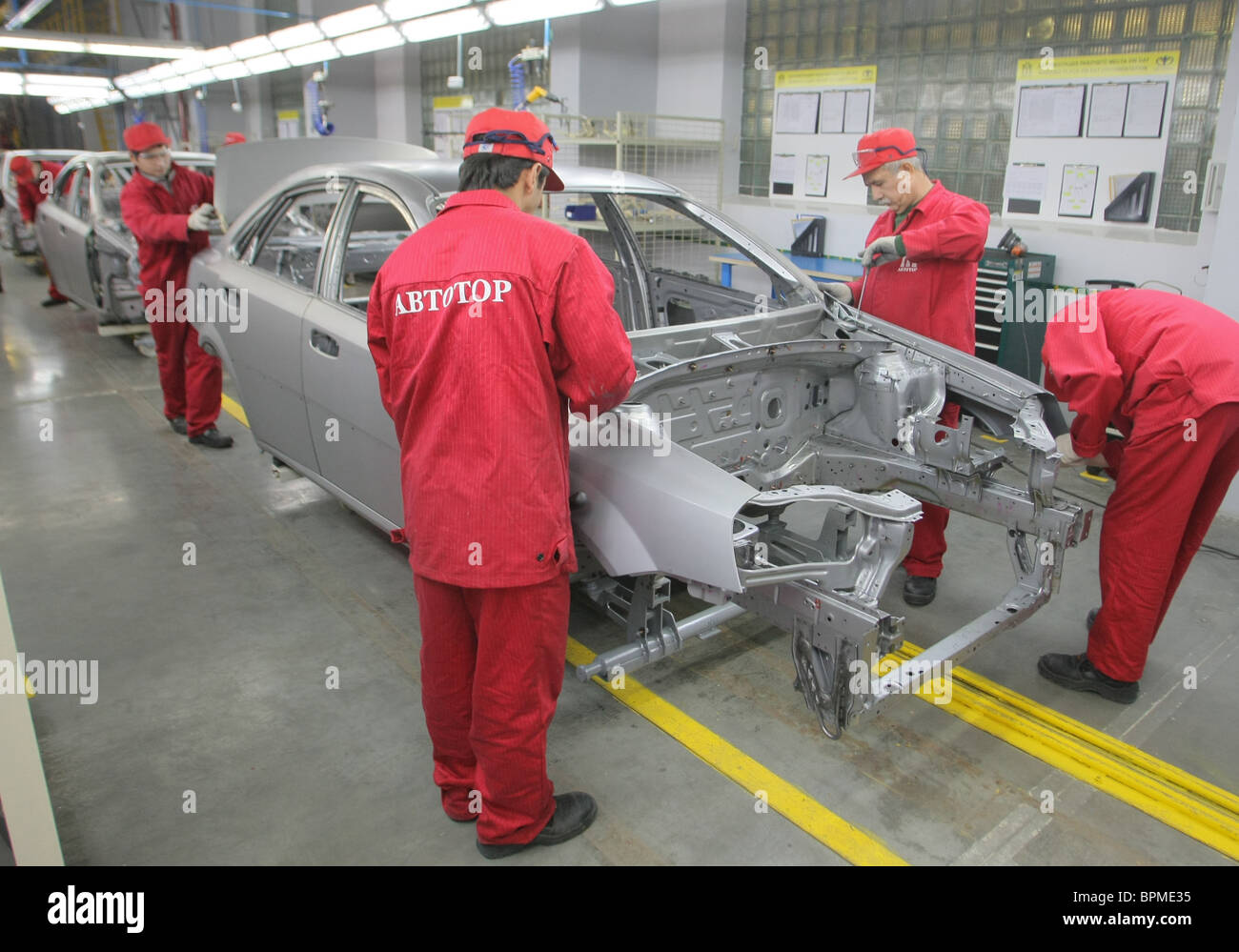 General Motors launches Chevrolet Lacetti plant in Kaliningrad - Stock Image