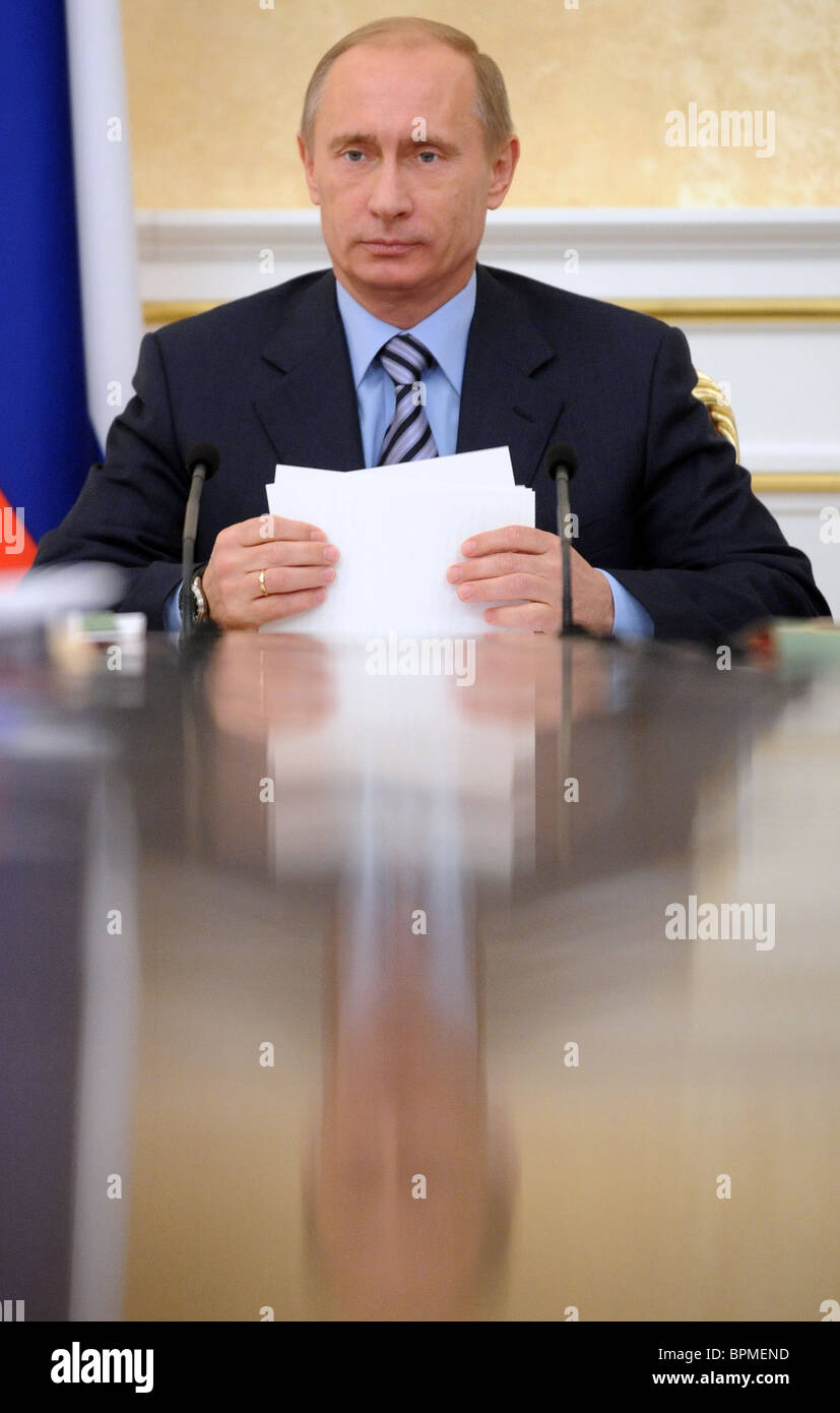 Russian government in session, December 1, 2008 - Stock Image