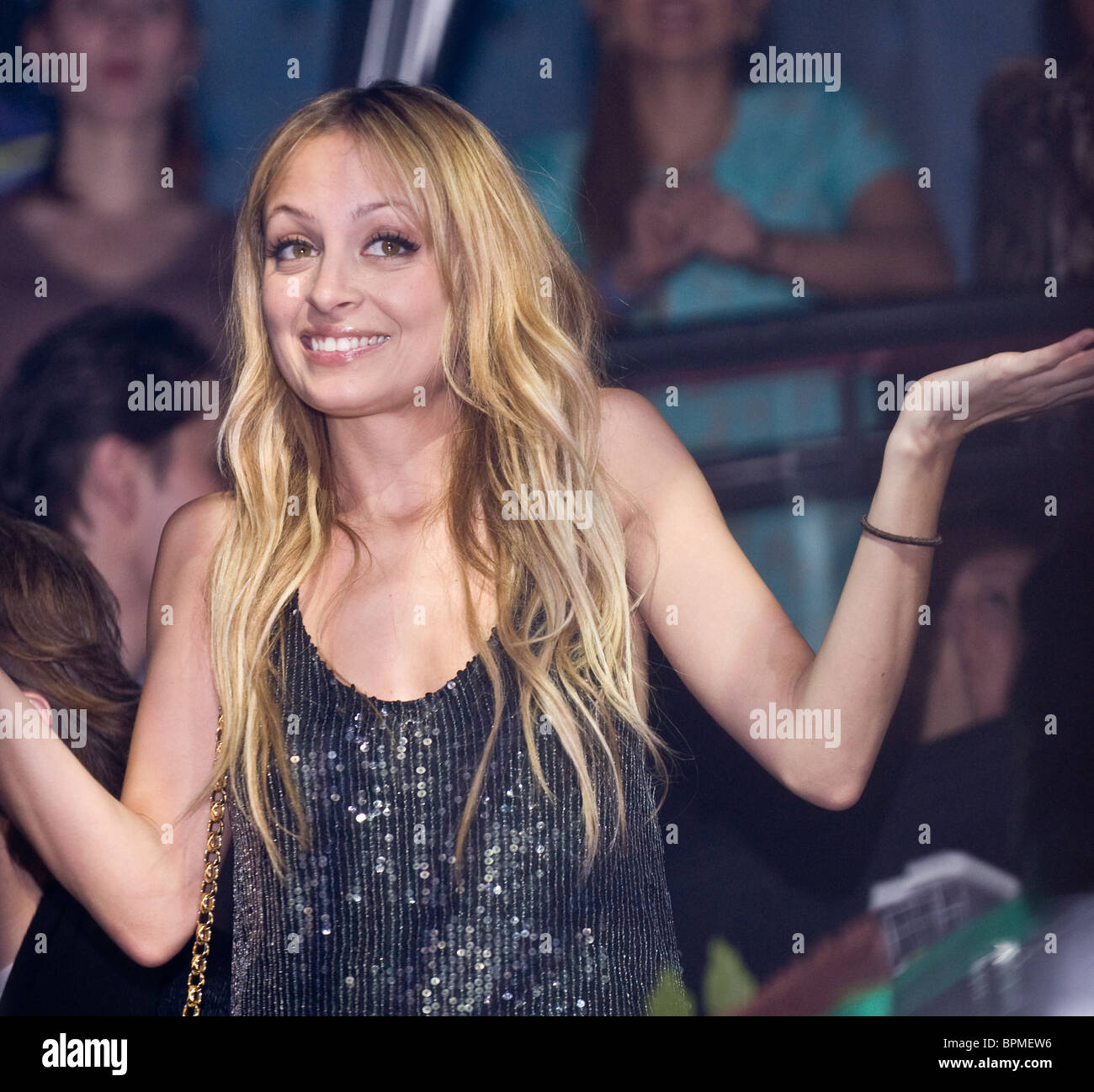 American actress, socialite Nicole Richie appears at party in Moscow's club - Stock Image
