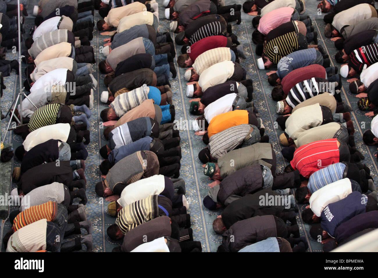 Moslems celebrate Kurban-Bayram holiday - Stock Image