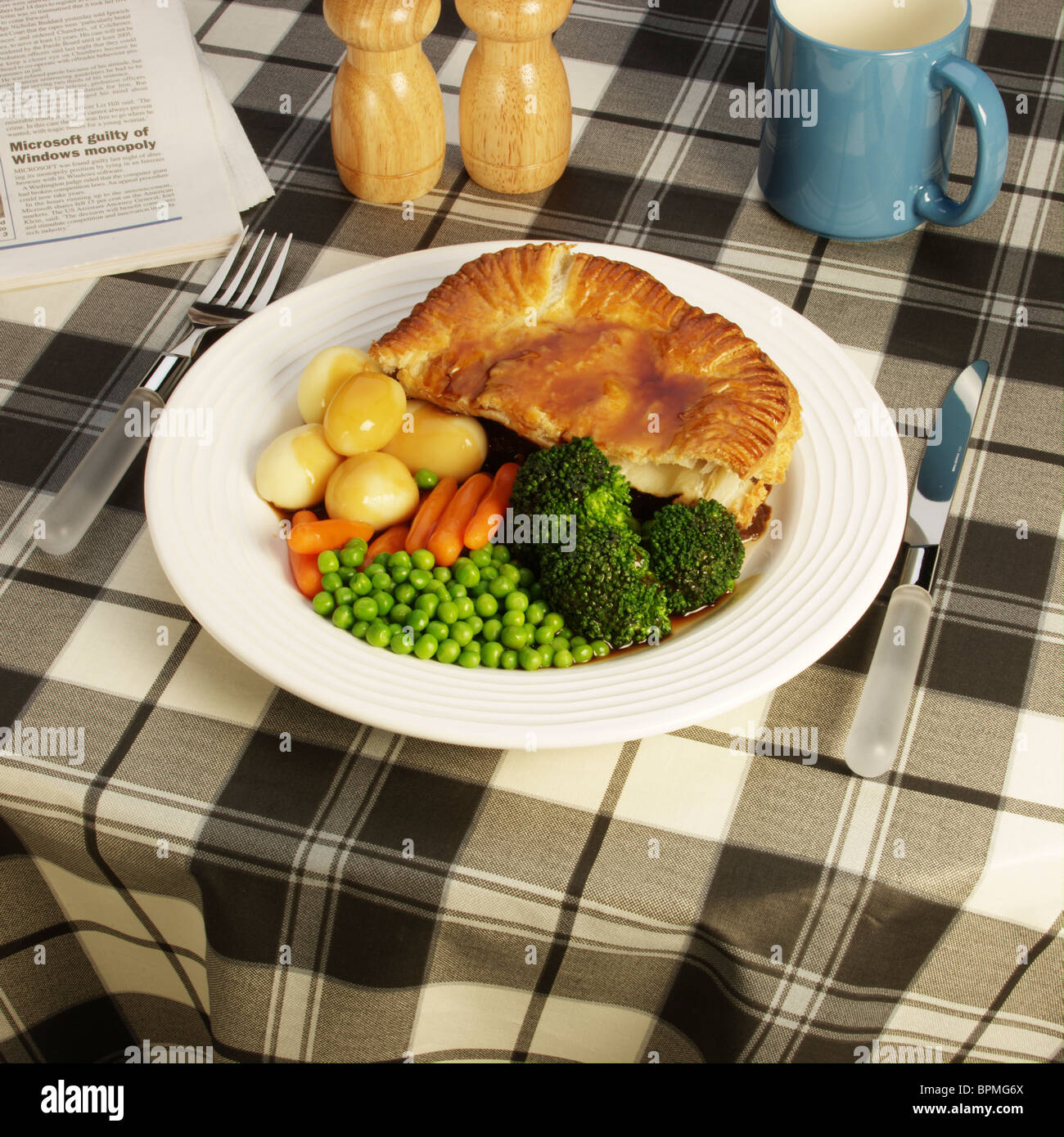 Cafe meal - Stock Image