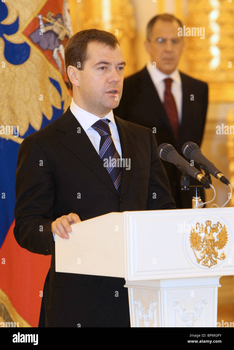 New ambassadors present credentials to president Medvedev Stock Photo
