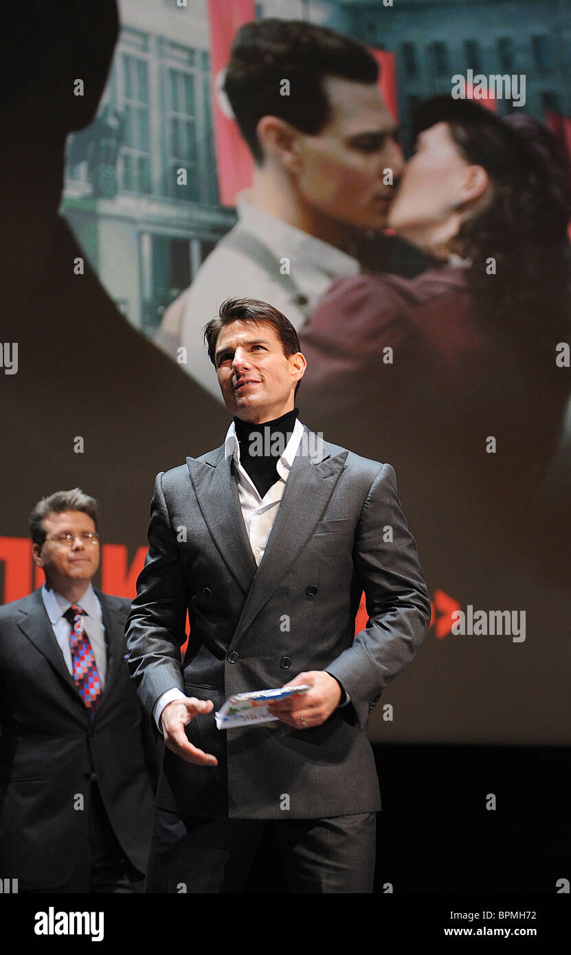 Tom Cruise brings 'Valkyrie' thriller to Moscow - Stock Image