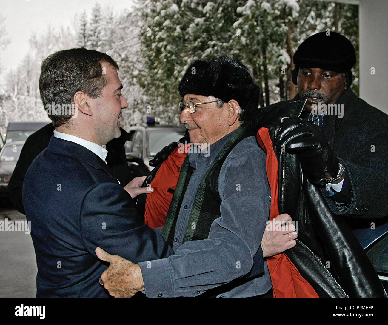 Leaders of Cuba and Russia meet for talks - Stock Image