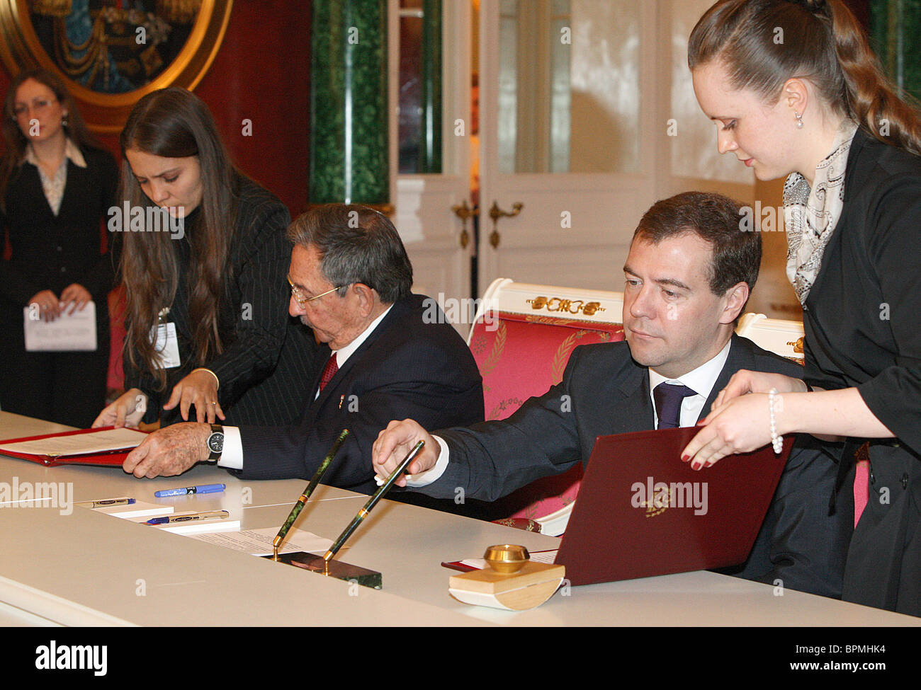 Russo-Cuban talks in Kremlin - Stock Image