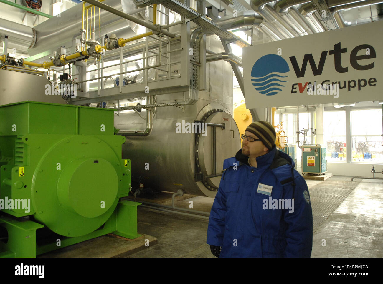 Moscow's first-ever sewage gas power plant launched - Stock Image