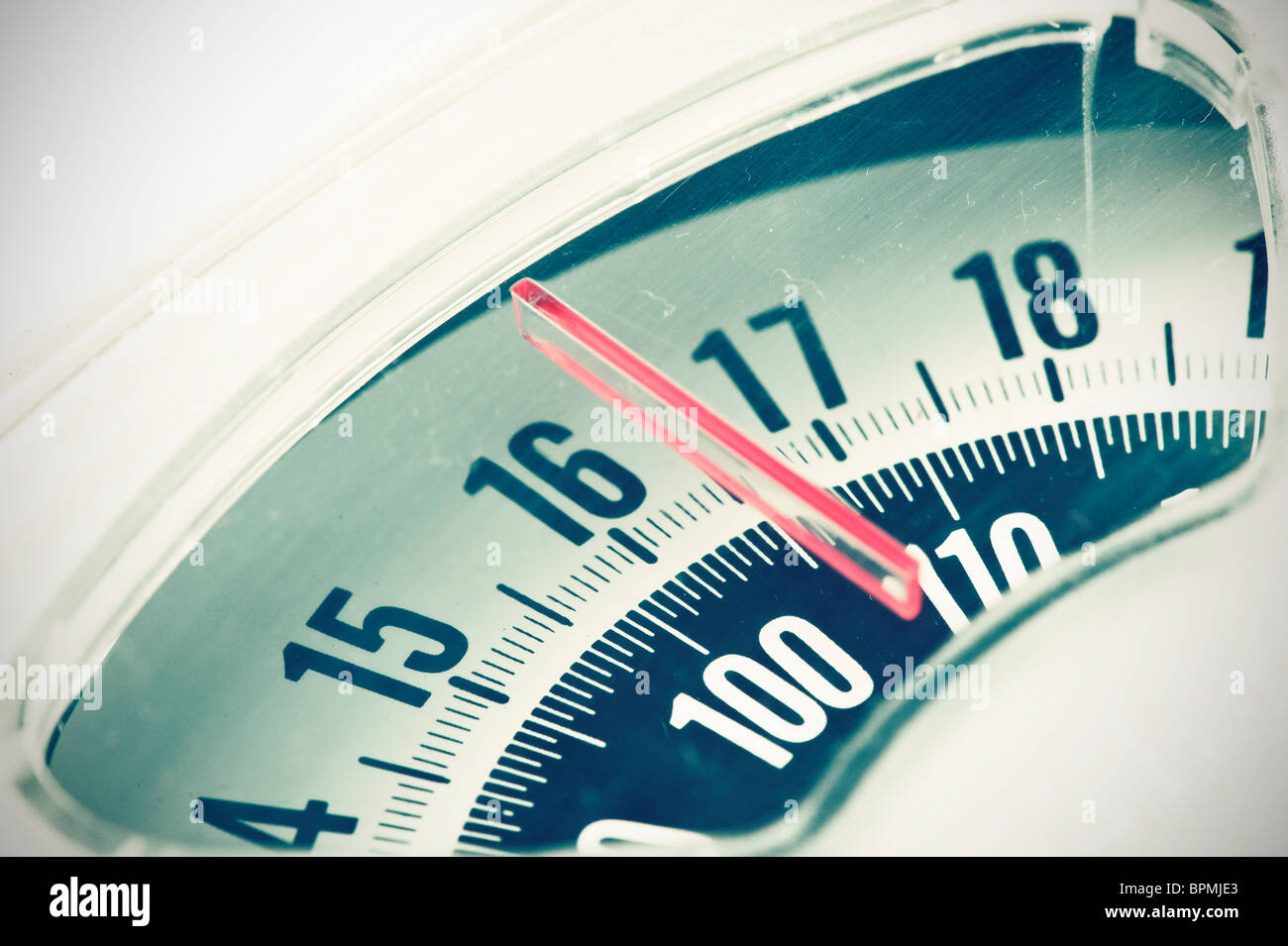 Shot of home scales - Stock Image
