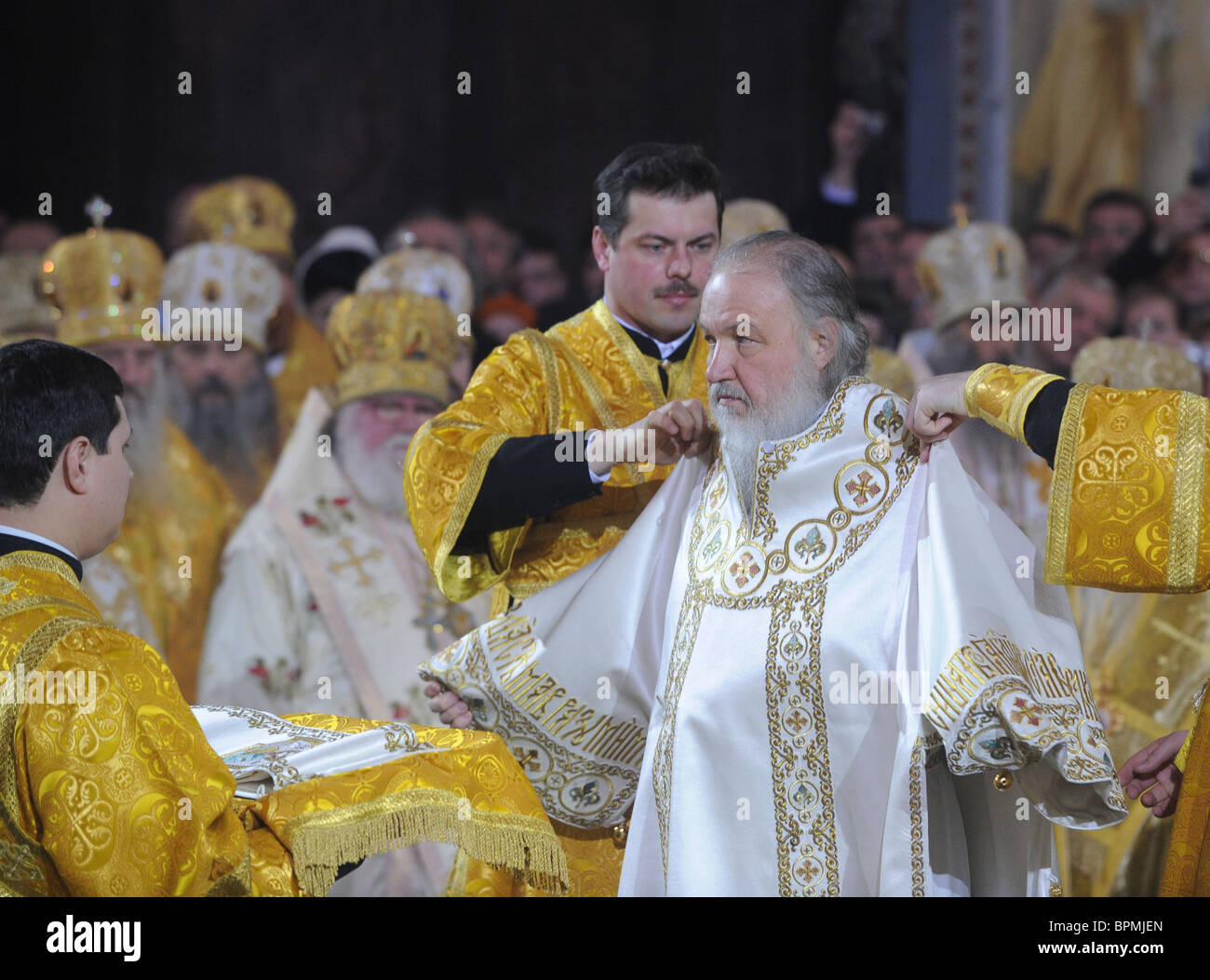 Metropolitan Kirill enthroned as 16th Patriarch of Russian Orthodox Church - Stock Image
